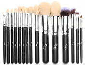 Qivange Makeup Brushes Synthetic Cosmetics Brush Set with Cosmetic Bag