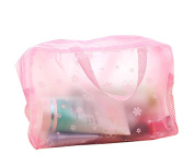 Demarkt Travel Necessary Pouch Bathing Wash Pouch Cosmetic Bag Floral Transparent Waterproof Storage bag, Colour Optional