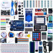 Elegoo UNO R3 Project The Most Complete Ultimate Starter Kit w/ TUTORIAL, UNO R3 controller board, LCD1602, Servo, Stepper Motor for Arduino UNO Mega2560 Nano Robot
