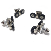 New 4 x Zinc Alloy Twin Shower Sliding Door Pulleys 25mm Pulleys Runner Roller