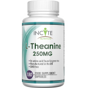 L-Theanine Supplement 250mg 180 Capsules (6 Months Supply) - 100.  BUY 2 GET FREE UK DELIVERY - High Dosage - Health Benefits Include improved sleep, stress and anxiety - suitable for vegans & vegetarians - UK Manufactured