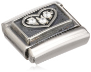 "Nomination Composable Women ""s Bead Classic Heart Stainless Steel Symbols Oxidised 330310 / 01"
