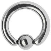 Intimate Titanium Piercing Jewellery Piercing Ball Closure Ring BCR 5.0 x 20 MM with Klemmkugel
