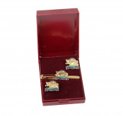 royal leicestershire regiment cufflink and tiebar giftset, the leicesters, the leicestershires