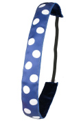 Ivybands Non-Slip Hair Band Dark Blue White Dots, IVY275