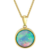 Opal Pendant, 9ct Gold, 10mm Round