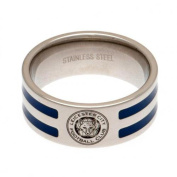 Official Leicester City FC Stainless Steel Colour Stripe Ring