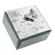 Beautiful Mirror Glass Butterfly Jewellery Box