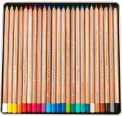 Koh-I-Noor Gioconda Soft Pastel Pencil Set, 24/Each Packed in Tin, Assorted Colours