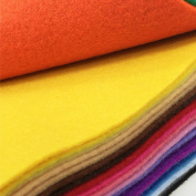 flic-flac 28pcs 12 x 12 inches (30cmx30cm) 1.4mm Thick Soft Felt Fabric Sheet Assorted Colour Felt Pack DIY Craft Sewing Squares Nonwoven Patchwork