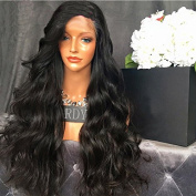 Long Body Wave Full Lace Human Hair Wigs for Black Women Natural Looking Virgin Brazilian Lace Front Wigs