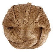 Better-Home Braided Hair Bun Extensions Synthetic Clip-on Hair Updo Chignon Hairpieces