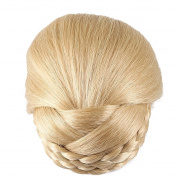 Better-Home Synthetic Hair Braided Clip in Bun Hair Extensions Hair Pieces Women