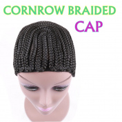 Braided Wig Caps in Cornrow MEDIUM Mesh Weave Cap with Braids
