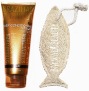 Brazilian Blowout Acai Deep Conditioning Masque, 240ml with FREE Natural Loofah
