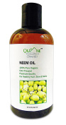 QUANE COSMETICS Organic Neem Oil | 100% Pure , Hexane Free , Cold Pressed , Combat Acne , Stretch Marks & Dry Scalp 240ml