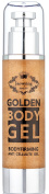 Golden Anti Cellulite Gel - Effective All Natural Cellulite Remover, Concentrated Firming Body Gel, Softens, Smooths, Tightens Loose Skin & Gets Rid of Cellulite - Net 3.38oz