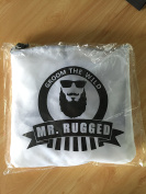 Mr Rugged Beard Cape - Barber Apron Catches Hair While You Shave or Use Clippers for a Hair Cut - Keeps Things Neat and Tidy - Professional Quality