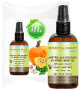 "ORGANIC PUMPKIN SEED OIL Australian. 100% Pure / Natural / Undiluted /Unrefined Cold Pressed Carrier Oil. 1 Fl.oz.- 30 ml. For Skin, Hair, Lip And Nail Care. ""One Of The Richest Sources Of Enzymes, Fatty Acids, Iron, Zinc, Vitamins A, C, E And K"". Bota .."