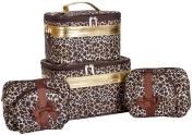 J Garden Gold Brown Leopard Cosmetic Cases - Six Piece Set
