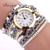 Binmer(TM) Duoya Brand Women Flower Popular Quartz Watch 2016 New Watches Luxury Bracelet Women Dress Lady Gift Flower Gemstone Wristwatch