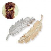 CINEEN Beauty Leaf Shaped Hair Clip Pin Claw Headwears Hair Accessories Pack of 2