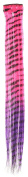 Capelli New York Girls Ombre Zebra Faux Hair Clip Pink Combo One Size