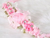 Floral headband charming lace with crystal and pearl