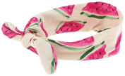 Capelli New York Girls Watermelon Print Headwrap Ivory Combo One Size