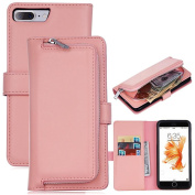 TOOPOOT Magnetic Detachable Wallet Flip PU Leather Case with Credit Card Slot For iPhone 7 Plus