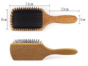 Welwel Manchurian Ash Hair Paddle Brush No Static Brush Massage Hair Brush