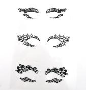 Halloween Make Up Black Fabric Eye shadow Tattoo Sticker Reusable Eye Decoration Stickers