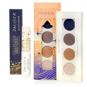 Pacifica Stellar Gaze Length & Strength Mascara (Supernova Black) & Mystical Supernatural Eye Shadow Palette Bundle with Coconut, Safflower Seed Oil and Brown Kelp Extract