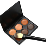 Sungpunet 6Colors Makeup Contour Kit Highlight and Bronzing Powder Palette with 1pc Brush