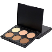 Sungpunet 6Colors Makeup Contour Kit Highlight and Concealer Foundation Cream Palette
