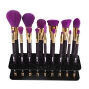 Toraway 15 Hole Square Makeup Brush Holder Drying Rack Organiser Cosmetic Shelf Tool