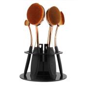 Toraway 6 Hole Oval Makeup Brush Holder Drying Rack Organiser Cosmetic Shelf Tool