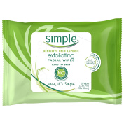 Simple Exfoliating Wipes, 25 wipes, 4 Count