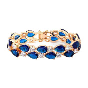 Eastlion Retro Zircon Bracelet Fashion Women's Bracelet,M,19CM,Blue