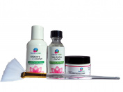 50% Glycolic Acid Skin Peel Kit + Glycolic Pre-Peel Cleanser + Antioxidant Recovery Cream + Treatment Brush