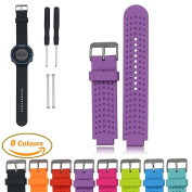 Garmin Forerunner Series Smart Watch Replacement Band, iFeeker Air Hole Style Soft Silicone Strap Replacement Watch Band With Free Installation Tools and Lugs Adapters Common Designed for Garmin Forerunner 220/230/235/630/620/735XT Accessories Sports G ..