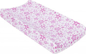 MiracleWare Muslin Changing Pad Cover, Radiant Orchid Stars