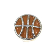 "Best Wing Jewellery ""Basketball"" Floating Charm for Living Memory Glass Lockets"