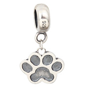 Puppy Dog Paw Dangle Charms 925 Sterling Silver Beads Fits Pandora Charms Bracelets