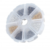 BIHRTC Pack of 800 Screw Eyes Pin Findings for Clay Jewellery,Mini corked bottle charms