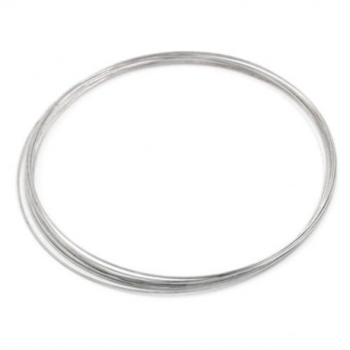 100Loops Memory Wire Necklace Craft Findings 115mm Dia.