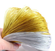 100M Metallic Silver Gold Purl Wire Coil Bullion Cord Craft Jewellery 1.0mm DIY