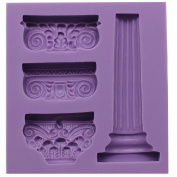 Funshowcase Ancient Greek Pillars Fondant Candy Mould for Sugarcraft, Cake Decoration, Cupcake Topper, Chocolate, Pastry, Polymer Clay, Soap Making, Epoxy Resin, Crafting Projects