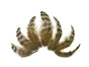 Hen Feathers | Grizzly Hen Saddle Feathers - Tan, 10 Pieces