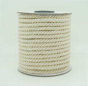5mm Natural White Cotton Twisted Cord Craft Macrame Artisan String